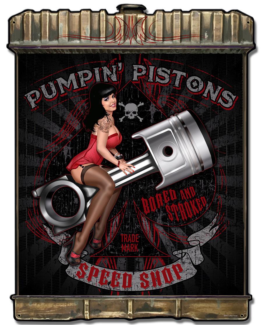Radiator Pumpin Pistons Vintage Sign