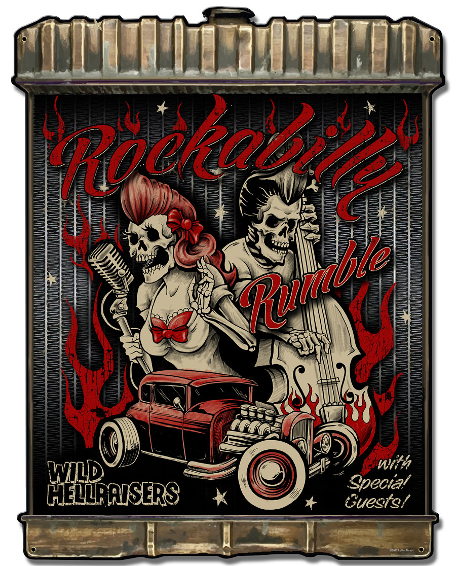 Radiator Rockabilly Vintage Sign
