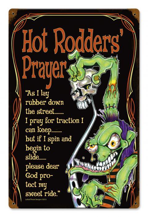 Hot Rod Prayer Vintage Sign