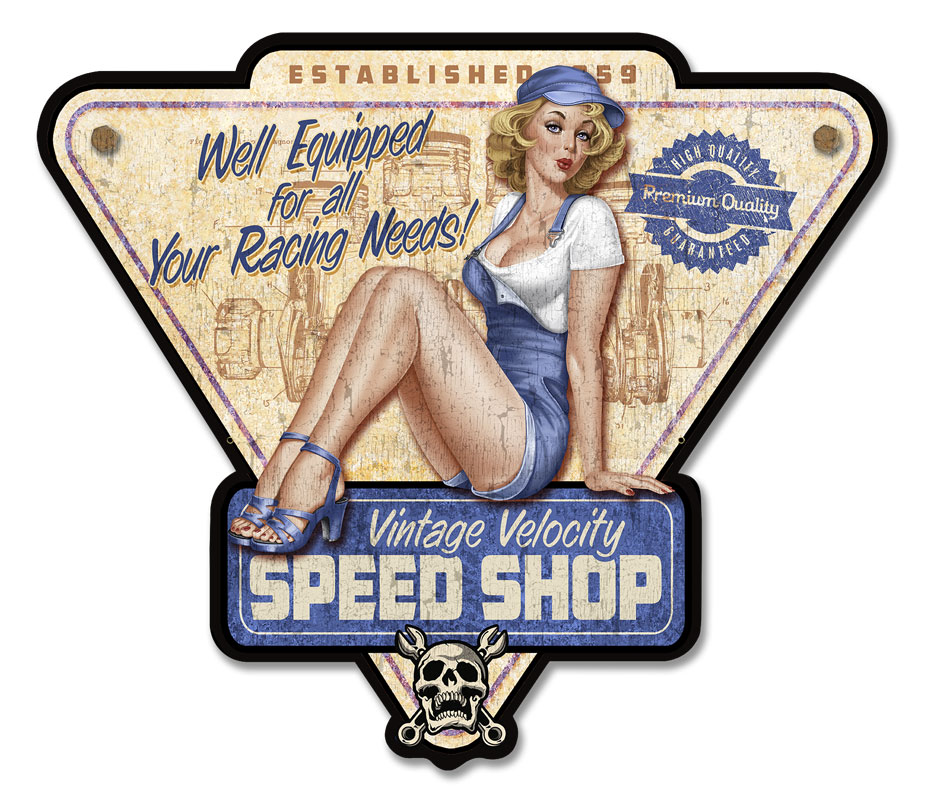 LETH201 - SPEED SHOP PIN UP