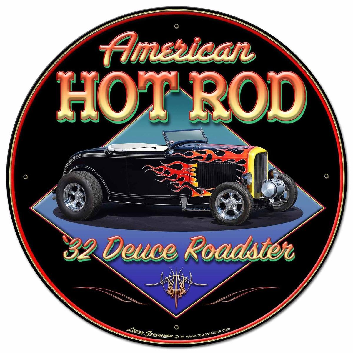 American Hot Rod '32 Vintage Sign