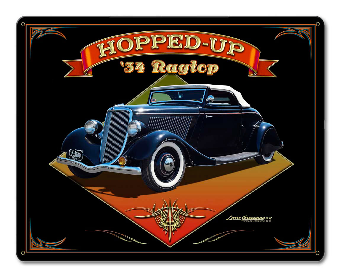 1934 Ragtop Rod Vintage Sign