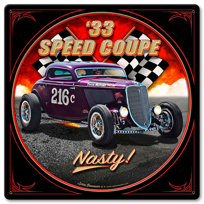 1933 Speed Coupe Vintage Sign