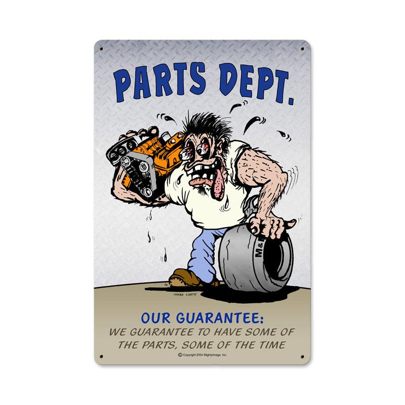 Parts Dept Vintage Sign