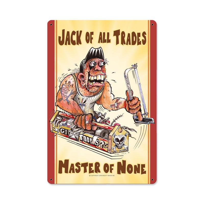 Jack Of All Trades Vintage Sign