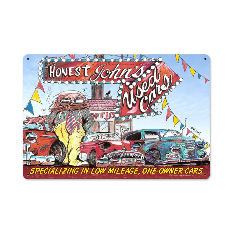 Honest Johns Used Cars Vintage Sign