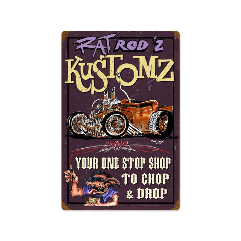 Rat Rodz Kustomz Vintage Sign