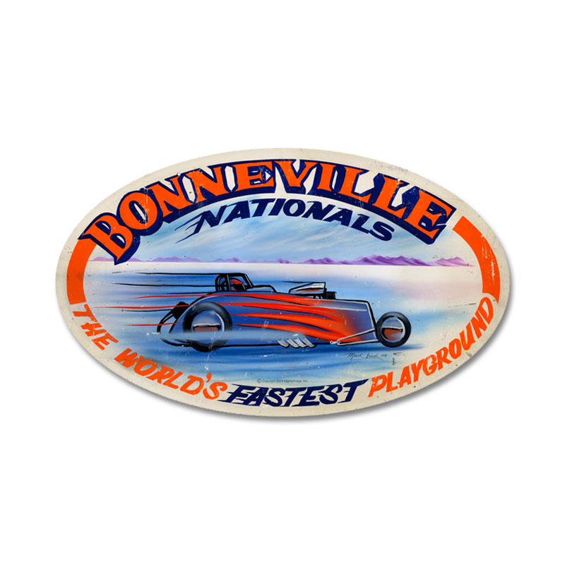 Bonneville Nationals Vintage Sign