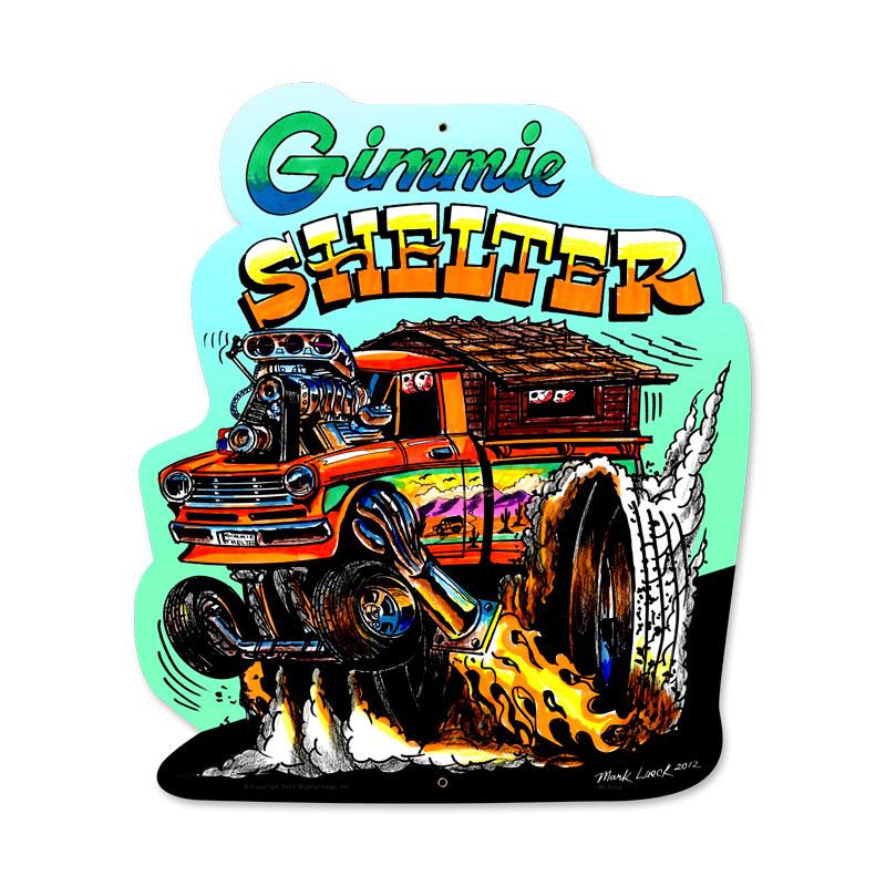 Gimme Shelter Vintage Sign