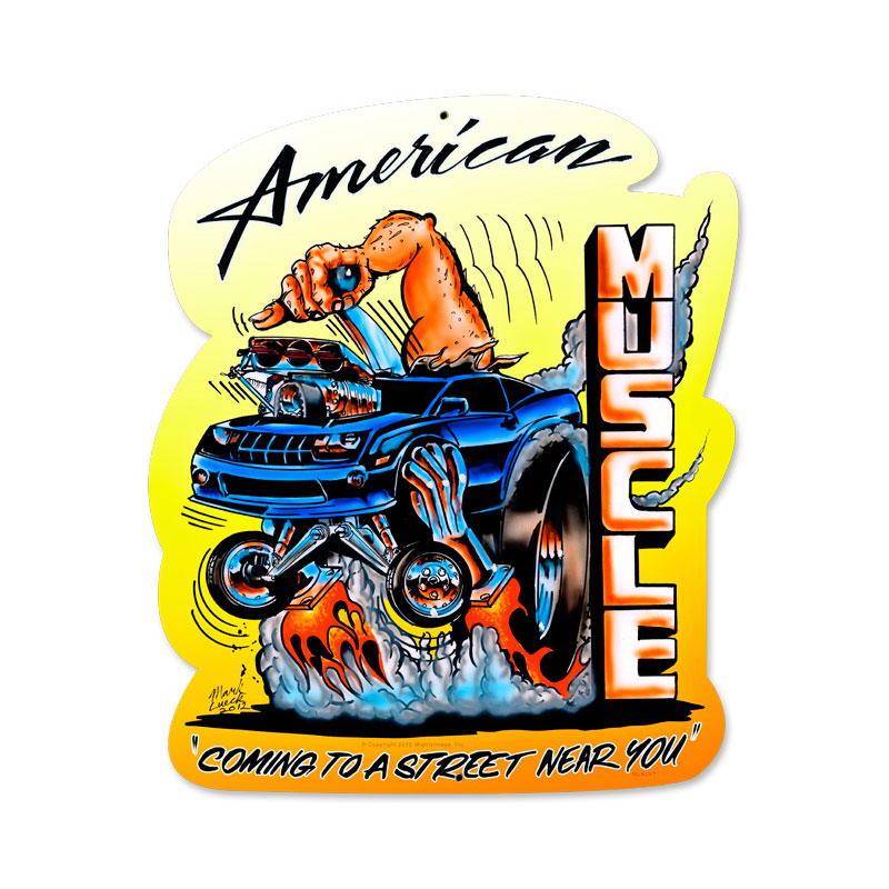American Muscle Vintage Sign