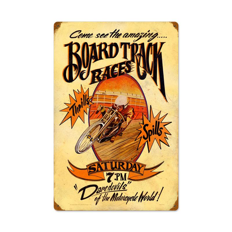 Board Track Vintage Sign