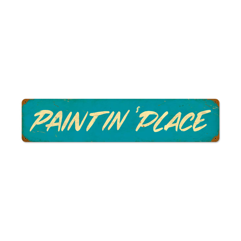 Paintin Place Vintage Sign