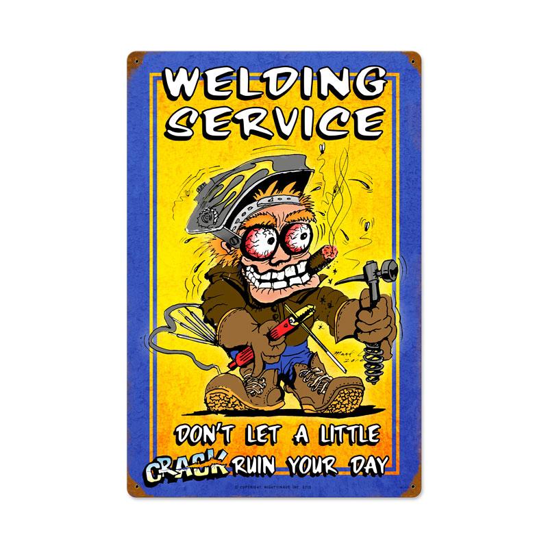 Welding Service Vintage Sign