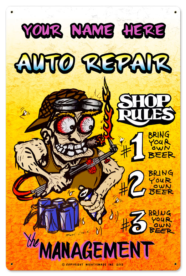 Personalized Auto Repair Shop Rules