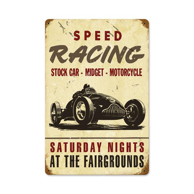 Speed Racing Vintage Sign