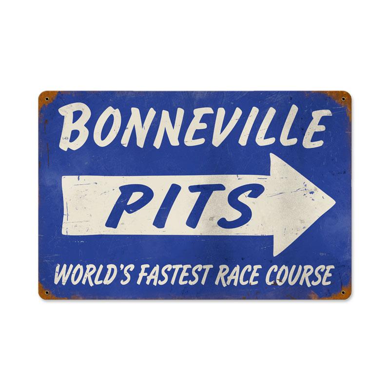 Bonneville Pits Vintage Sign