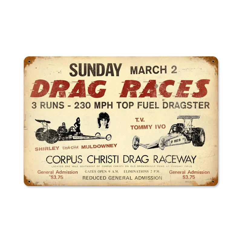 Drag Races Vintage Sign