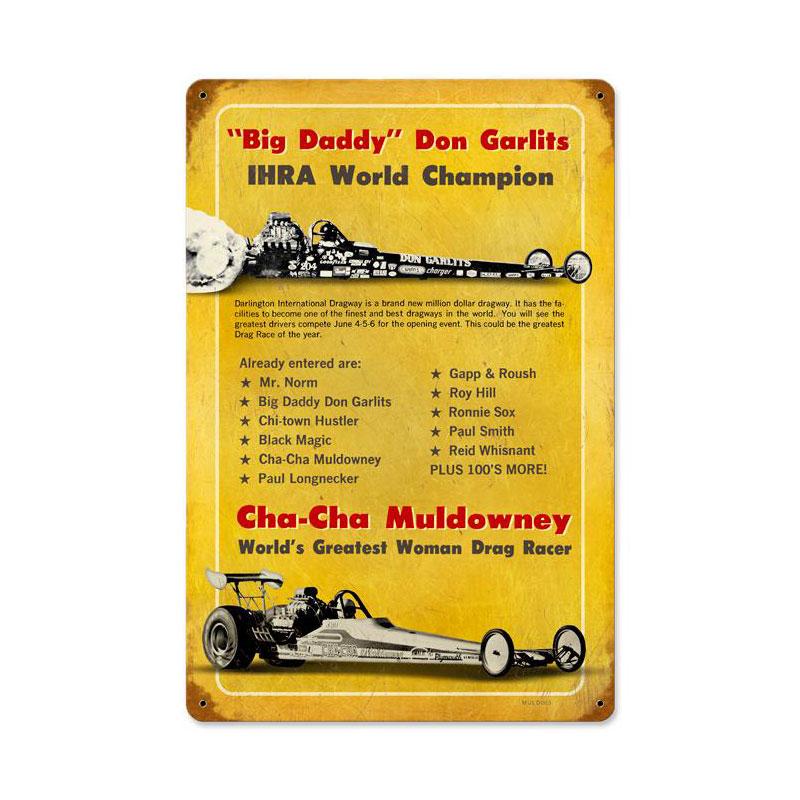 Muldowny Garlits Vintage Sign