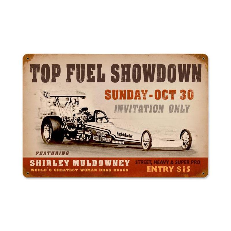 Top Fuel Showdown Vintage Sign