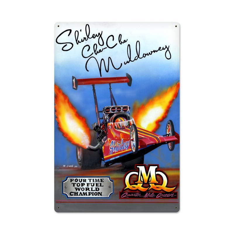 Quarter Mile Queen Top Fuel World Champion Vintage Sign