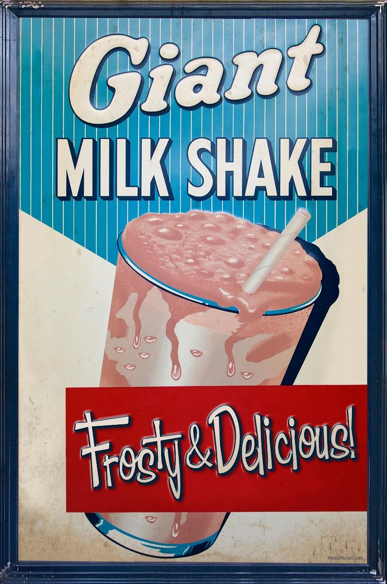 Milk Shake Vintage Sign