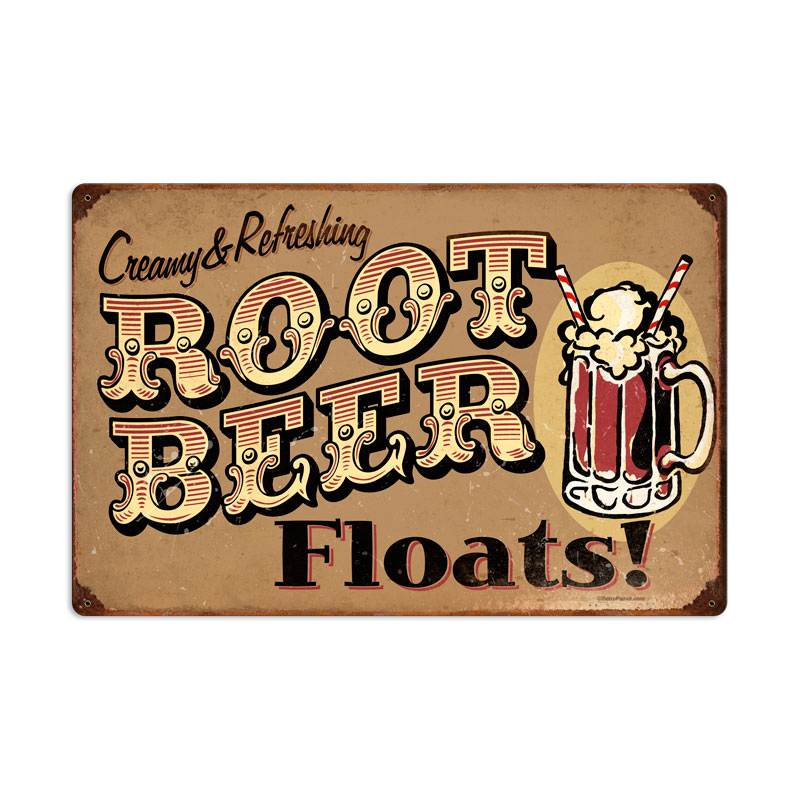 Root Beer Floats Vintage Sign