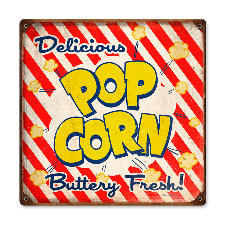 Pop Corn Vintage Sign