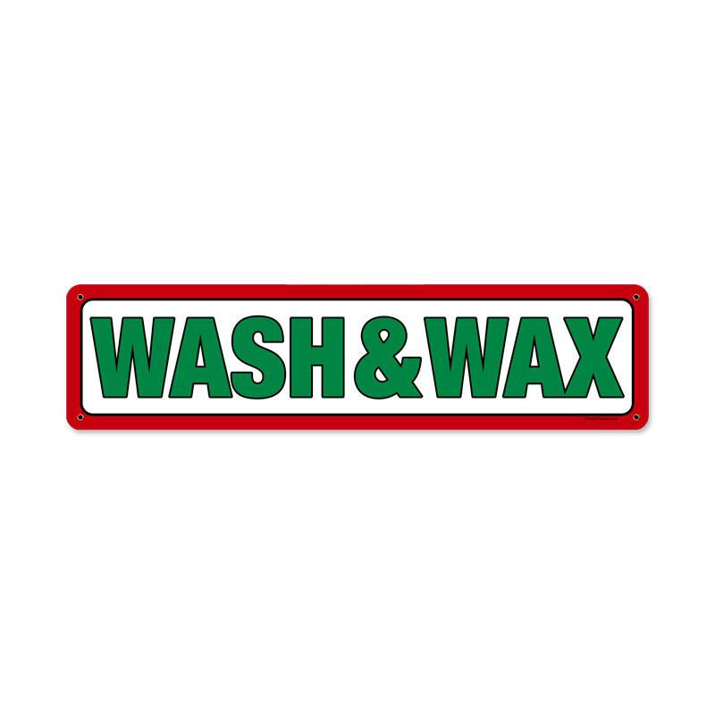 Texaco Wash And Wax Vintage Sign