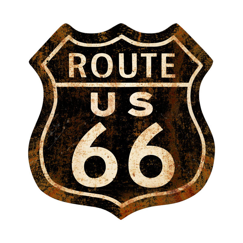 Route 66 Rusty Vintage Sign