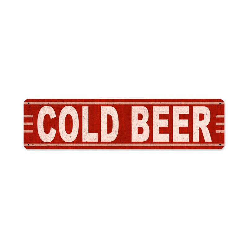 Cold Beer Vintage Sign