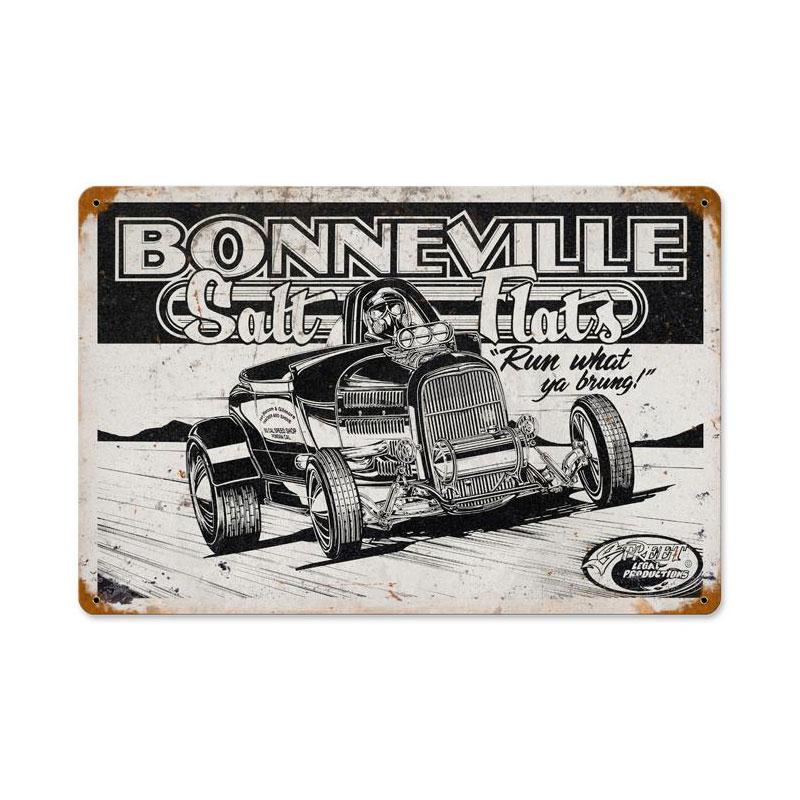 Bonneville Salt Flats Vintage Sign