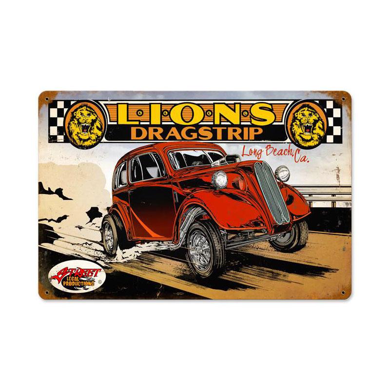 Lions Color Vintage Sign