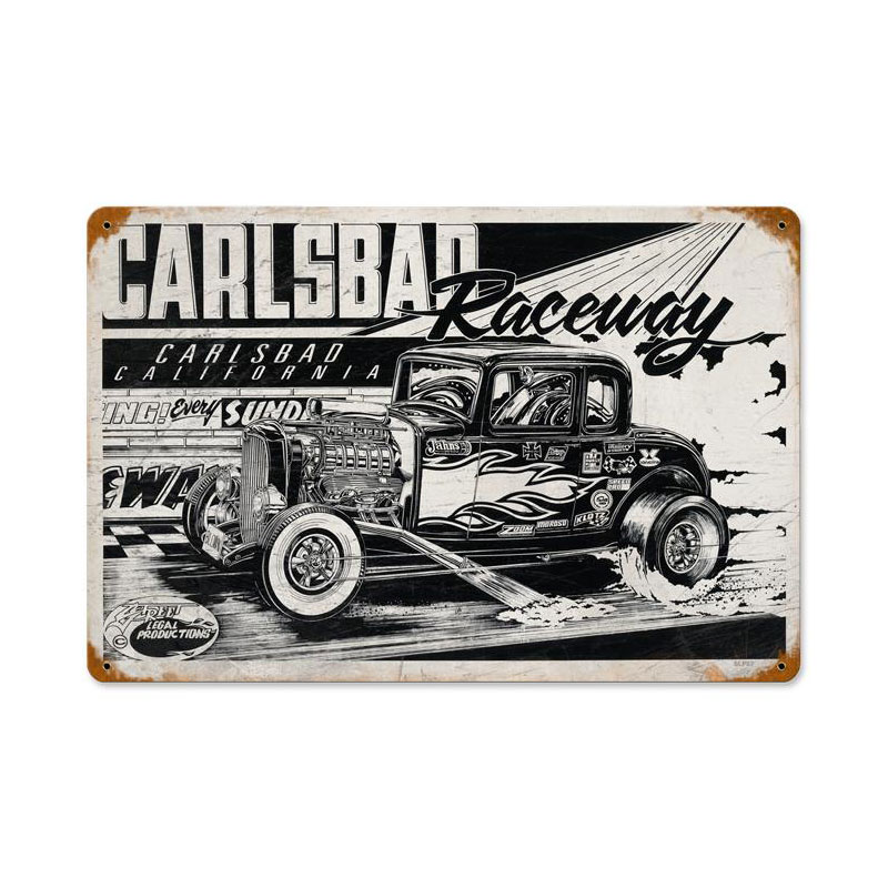 Carlsbad Raceway Vintage Sign