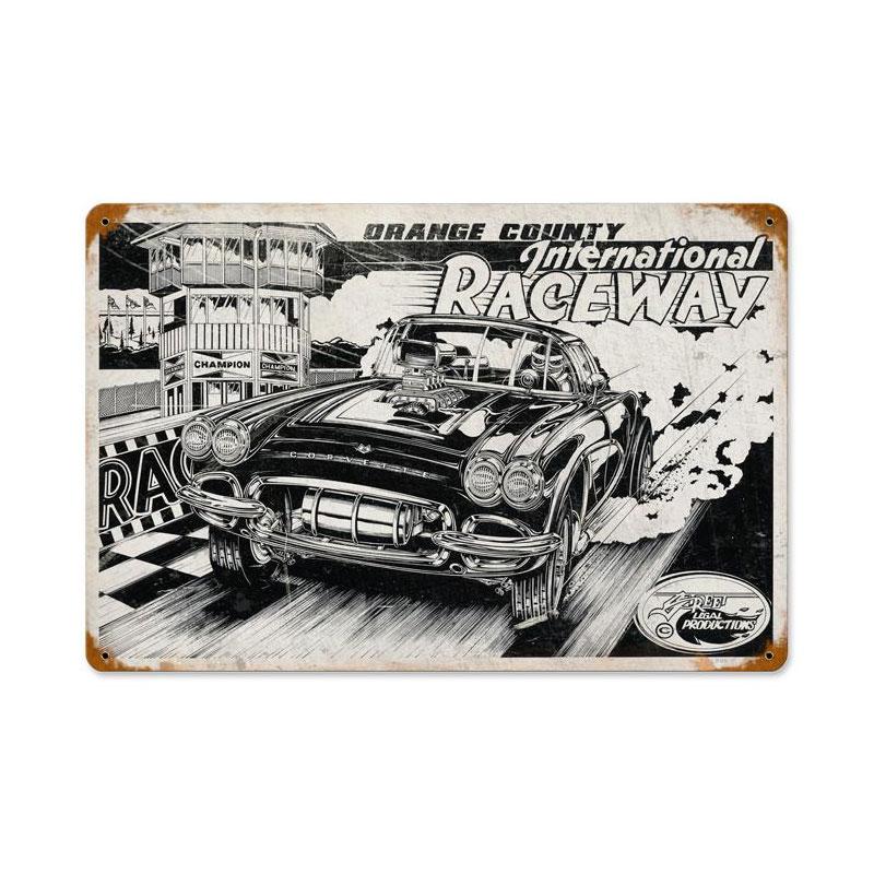 International Raceway Vintage Sign