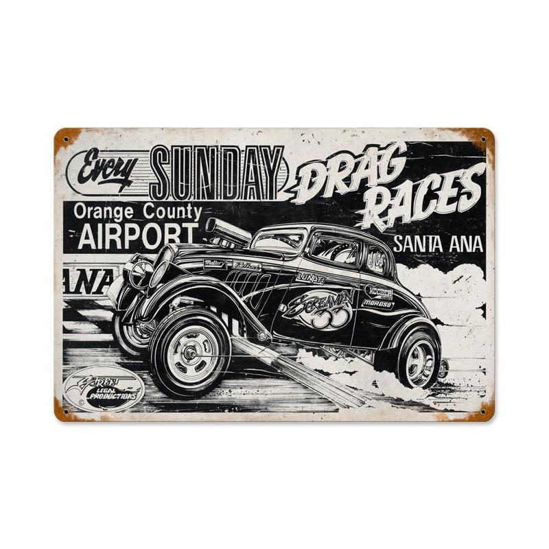 Santa Ana Drag Race Vintage Sign