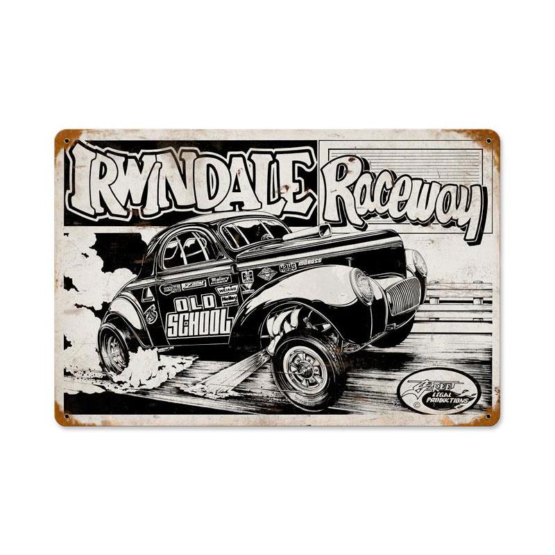 Irwindale Raceway Vintage Sign