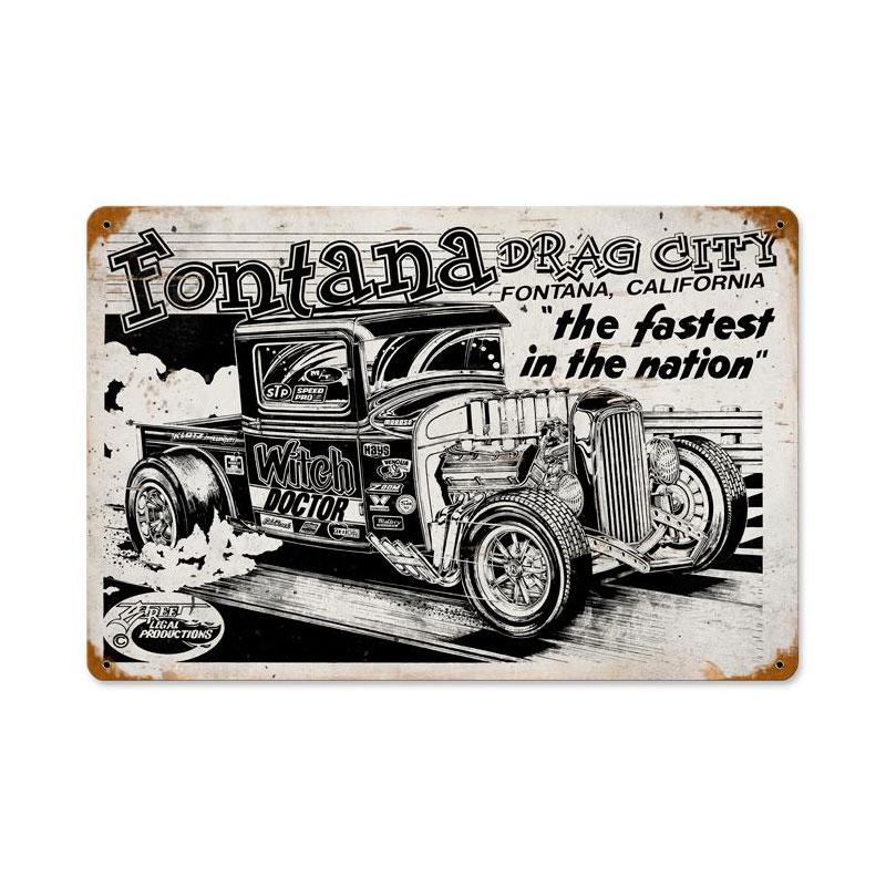 Fontana Drag City Vintage Sign