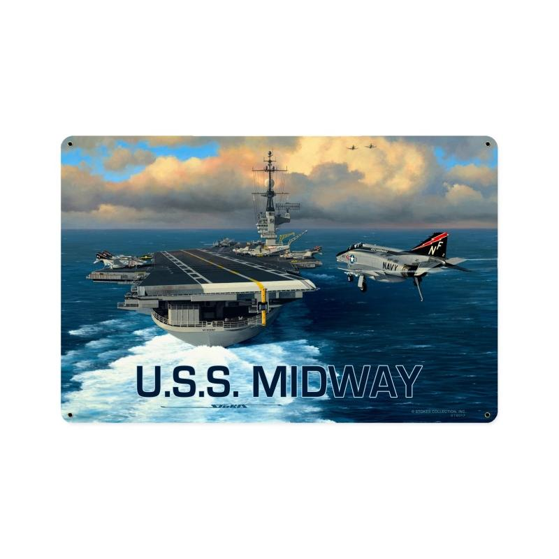 USS Midway Vintage Sign
