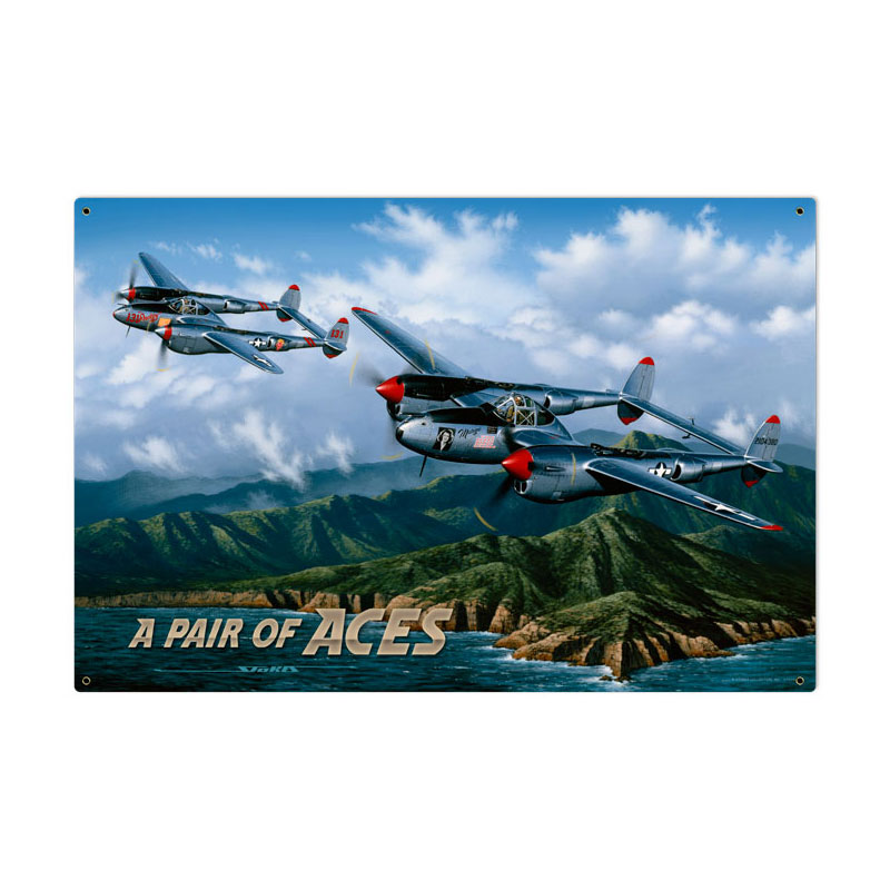 Pair Of Aces Vintage Sign