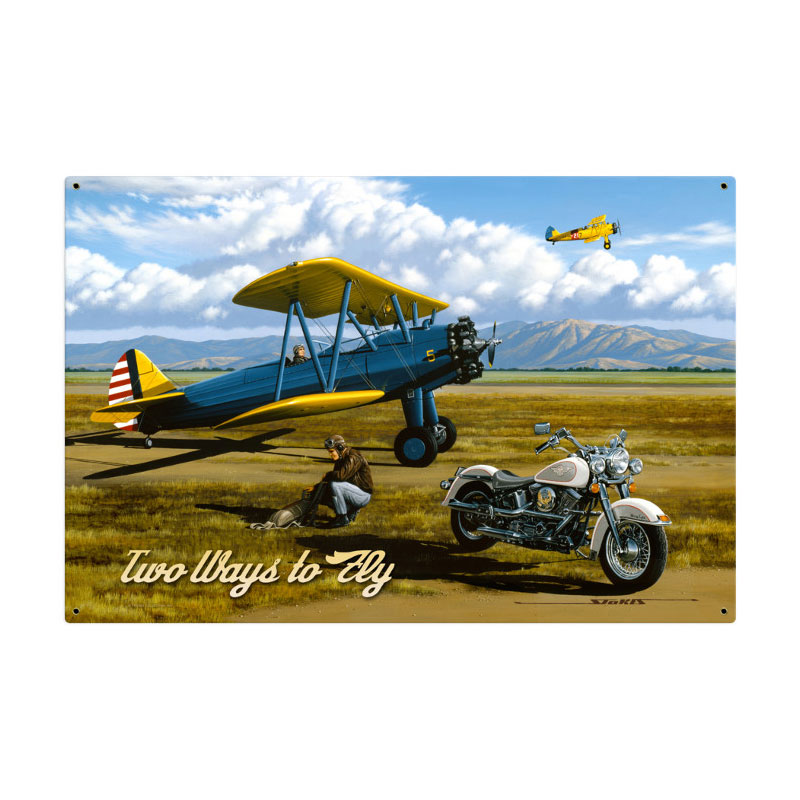 Two Ways To Fly Vintage Sign