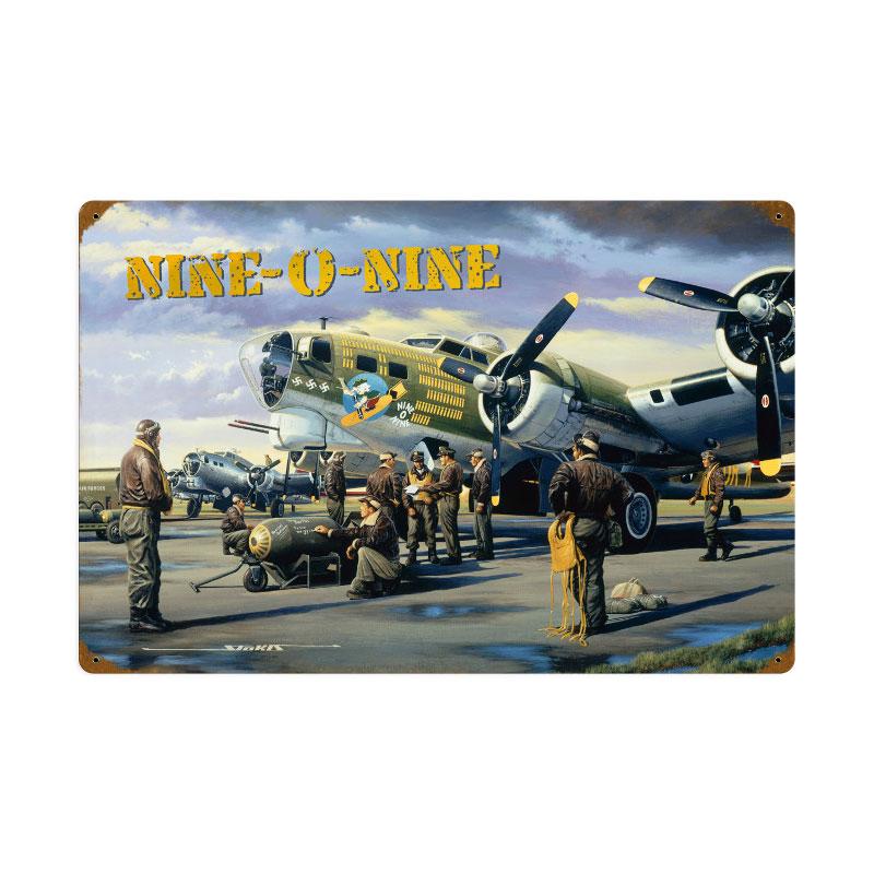 Nine O Nine Vintage Sign