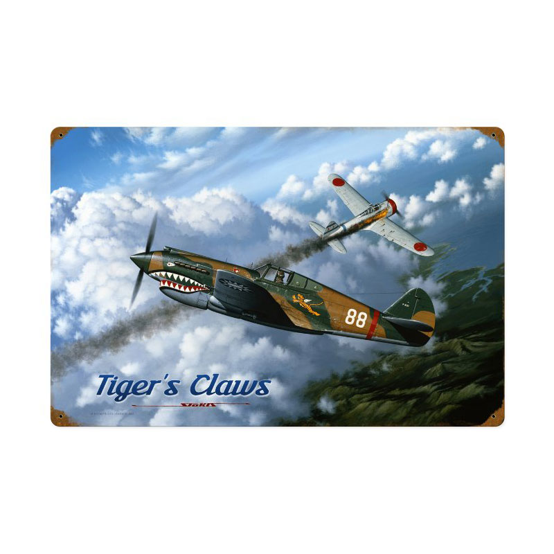 Tigers Claw Vintage Sign
