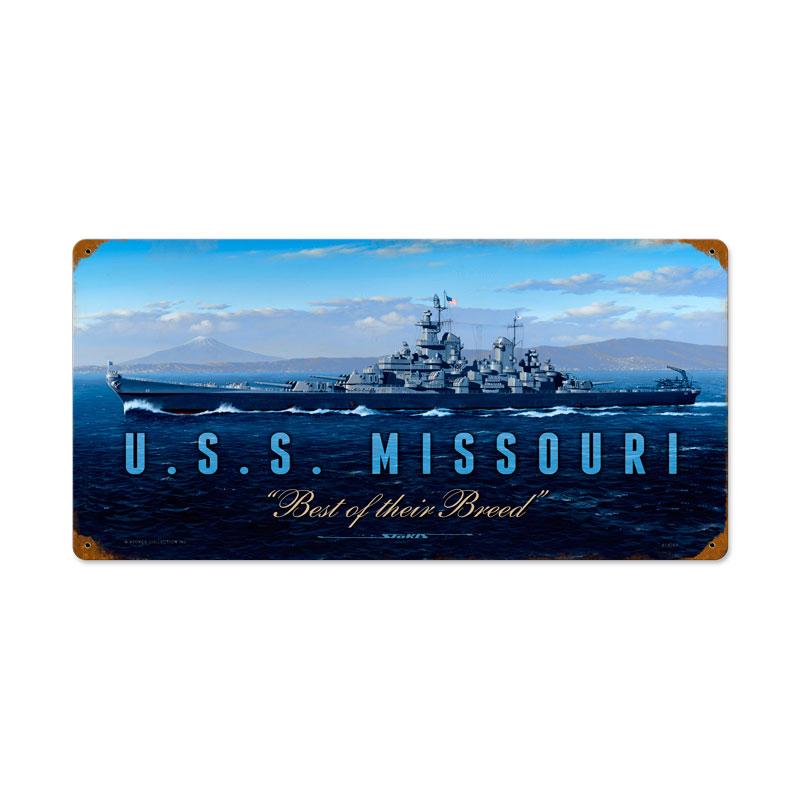 USS Missouri Vintage Sign
