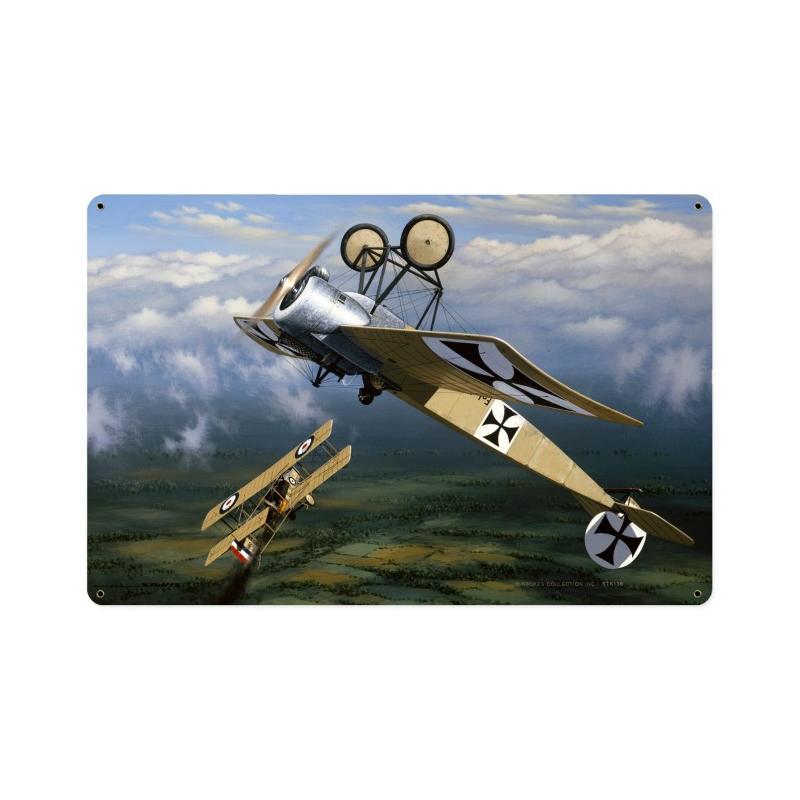 Fokker Scourge Vintage Sign