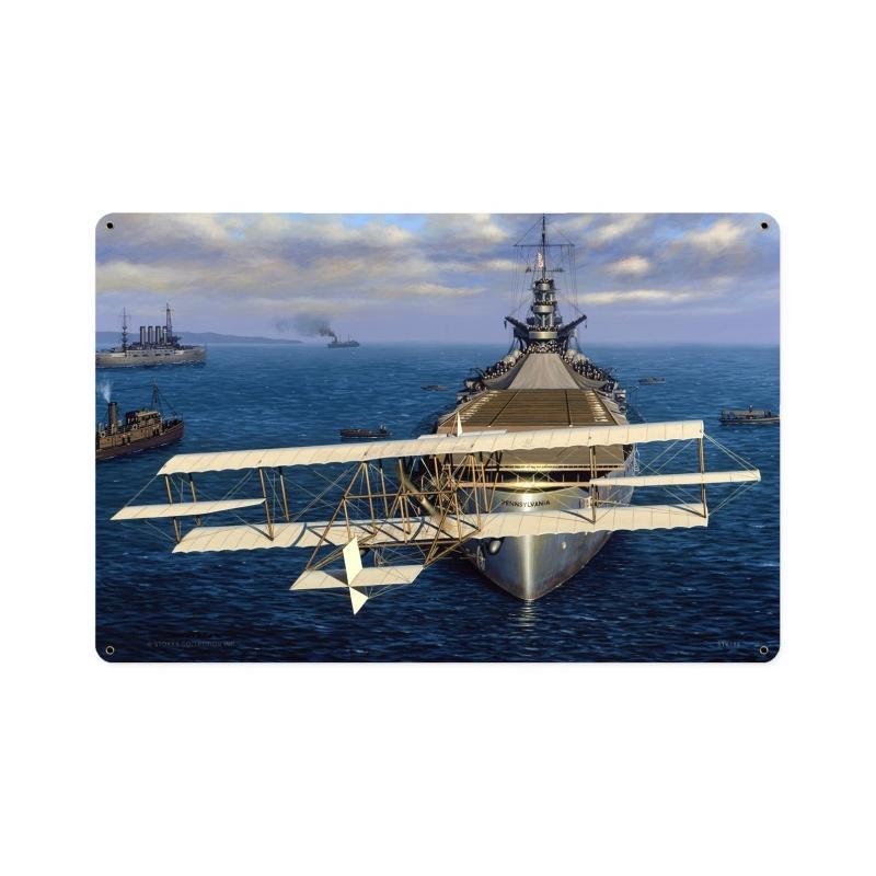 Navy Earns Wings Vintage Sign