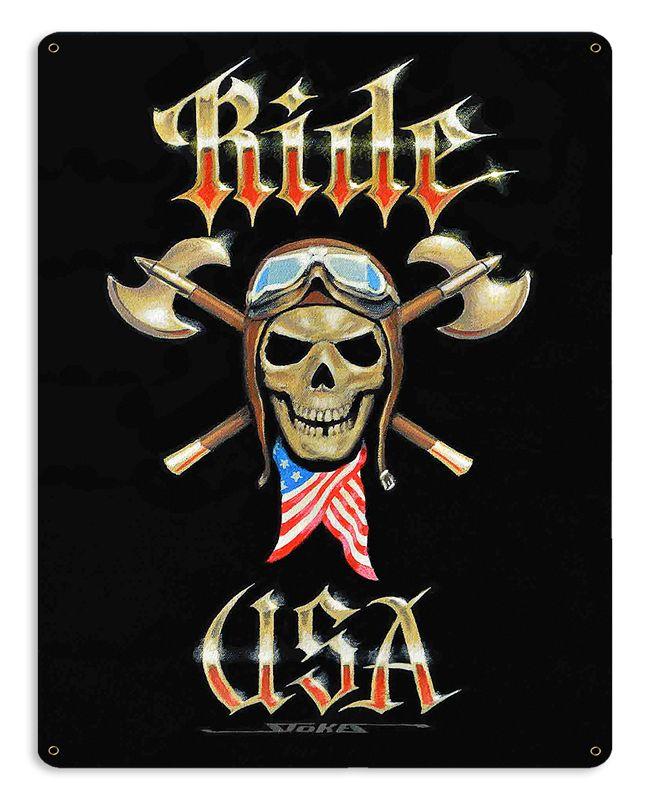 Ride Usa Vintage Sign