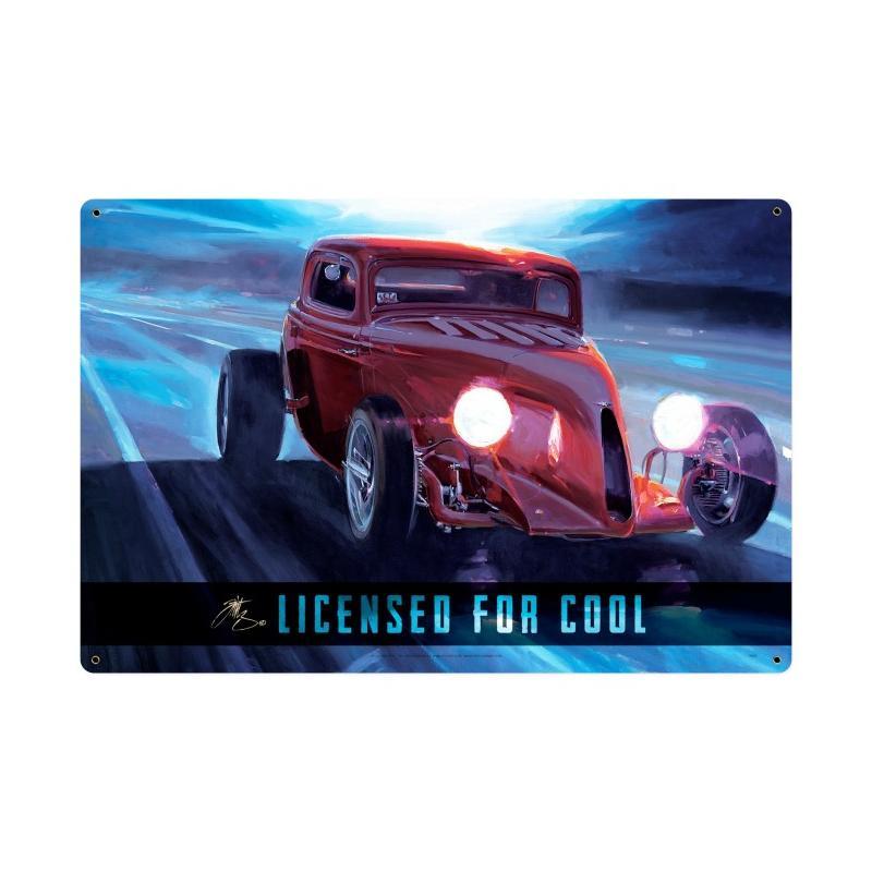 Licensed For Cool Vintage Sign