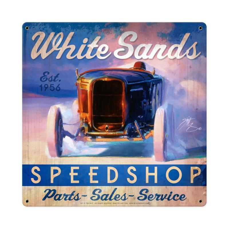 White Sands Speed Shop Vintage Sign