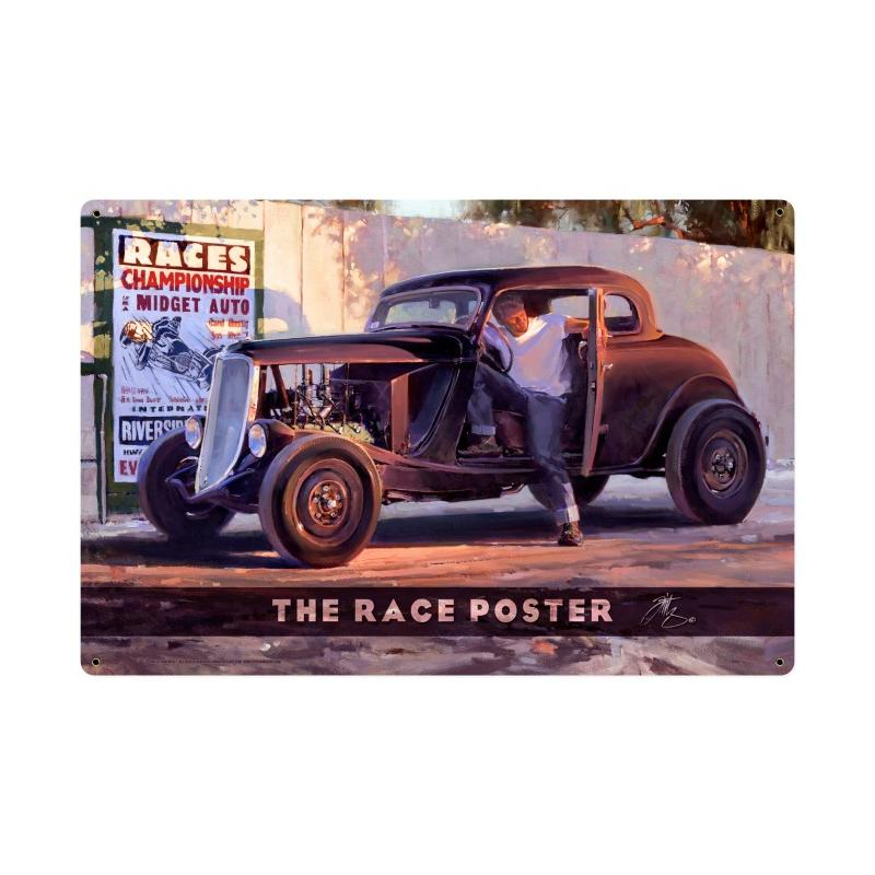 The Race Poster Vintage Sign