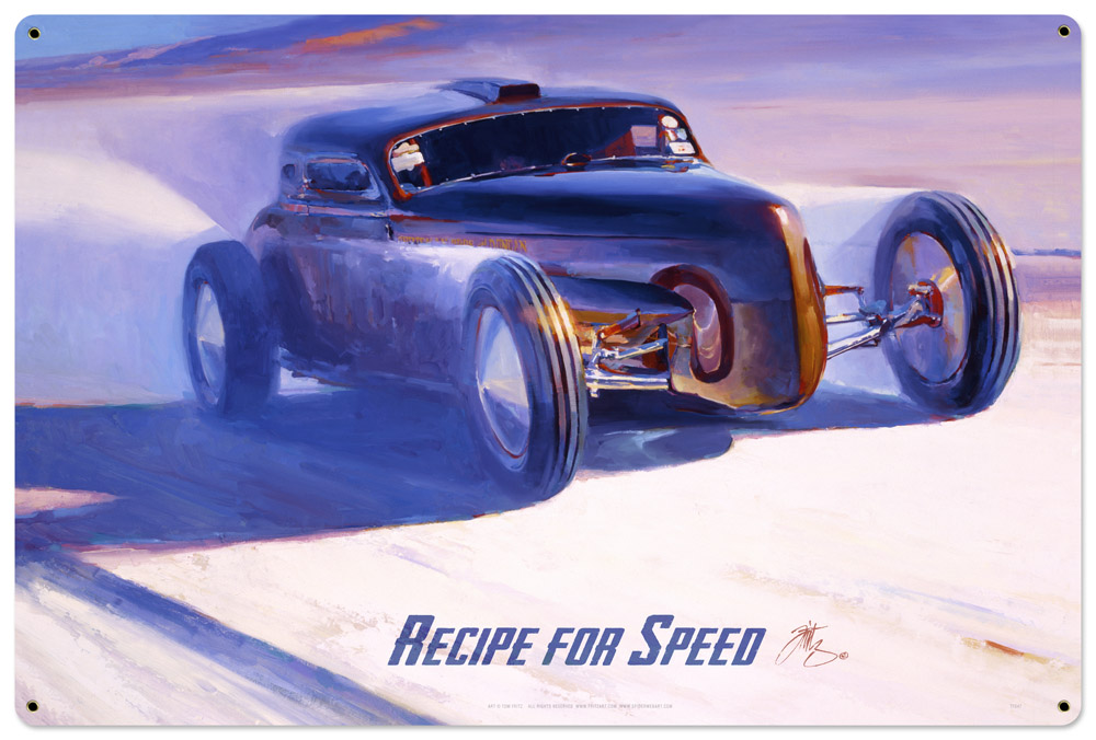 Recipe For Speed  Large Vintage Sign